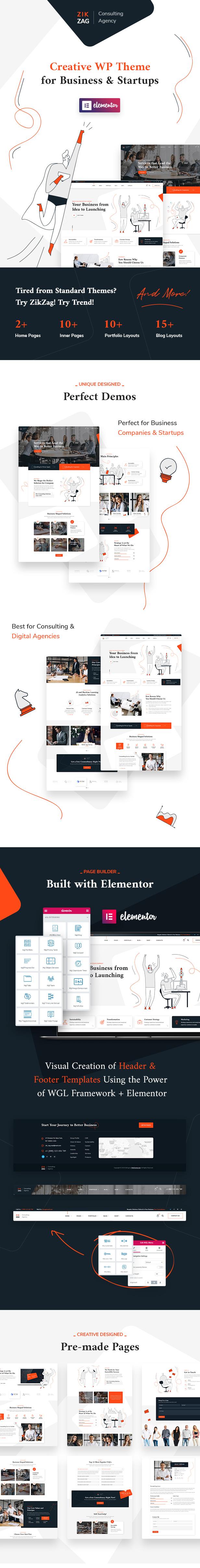 ZikZag - Consulting & Agency WordPress Theme - 1