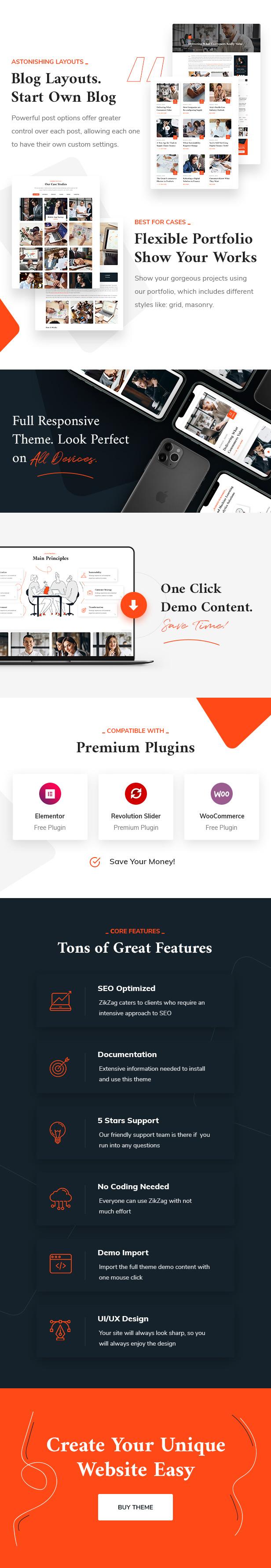 ZikZag - Tema de WordPress para consultoría y agencia - 2